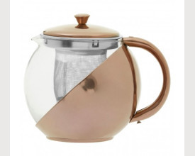 Glass and Stainless Steel Tea Pot £7.95 feature image