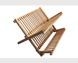 Wooden Folding Dish Drainer feature image
