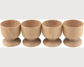 Set of 4 Wooden Egg Cups feature image