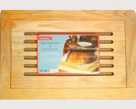 Wooden Bread Board with Crumb Tray feature image