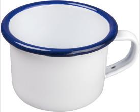 Falcon Housewares 6cm Blue and White Enamel Mini Mocca Mug feature image