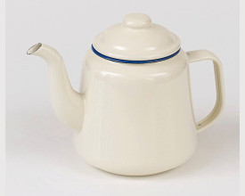 Homecook Large Blue and Cream Enamel Tea Pot feature image