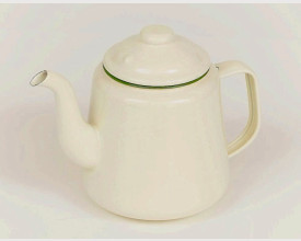 Homecook Large Green and Cream Enamel Tea Pot feature image
