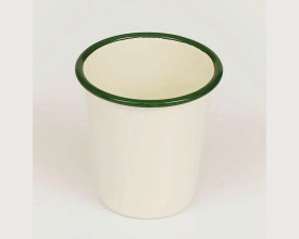 Homecook Enamelware Green and Cream Enamel Tumbler feature image