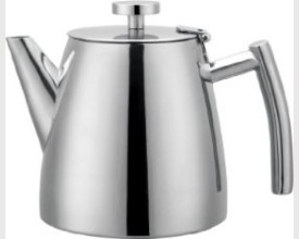Cafe Ole 1.2L Double Walled Stainless Steel Tea Pot feature image