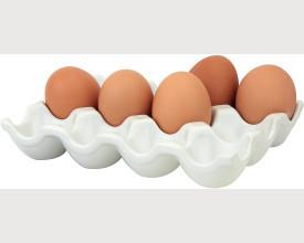 White Ceramic Egg Holder for 12 feature image
