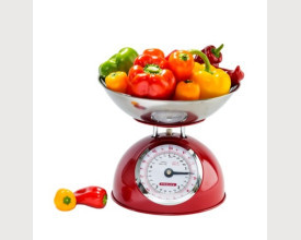 Steelex Traditional Red Kitchen Scales feature image