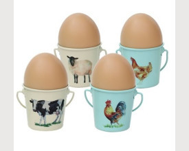 Farmyard Animals Tinware Egg Cup Boxed Set feature image