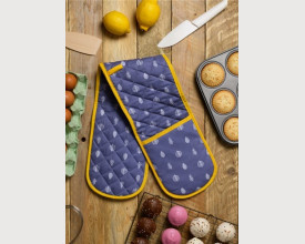 Grey Leaf Double Oven Gloves feature image
