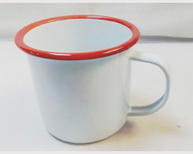 Homecook Enamelware 8cm Red and White Enamel Mug £1.95 feature image