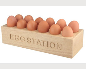 Wooden Egg Station for 12 Eggs feature image