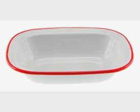 Homecook Enamelware Red and White Oblong Pie Dishes From £1.65 feature image