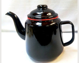 Homecook Large Red and Black Enamel Tea Pot feature image