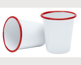 Homecook Enamelware Red and White Enamel Tumbler £2.28 feature image