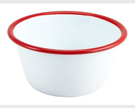 Homecook Enamelware Red and White Pudding Basins From £1.42 feature image