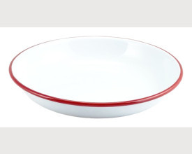 Homecook Enamelware 22cm and 24cm Red and White Enamel Rice Pasta Plate From £2.04 feature image