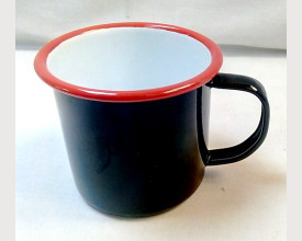 Homecook Enamelware Red and Black Enamel Mug feature image