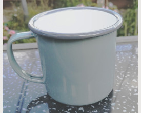Homecook Enamelware 8cm Grey Enamel Mug £1.95 feature image