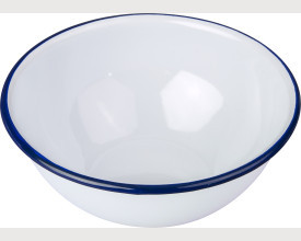 Falcon Housewares 14cm and 16cm Blue and White Enamel Bowls feature image
