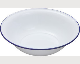 Falcon Housewares 36cm Blue and White Enamel Wash Bowl feature image