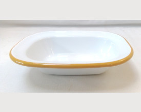 Falcon Housewares 16cm Mustard Yellow and White Oblong Pie Dish £1.55 feature image