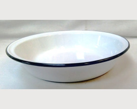 Falcon Housewares 22cm Black and White Round Enamel Pie Dish £1.40 feature image