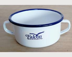 Falcon Housewares 10cm Blue and White Enamel Soup Bowl feature image