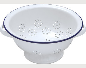 Falcon Housewares 24cm Blue and White Enamel Colander £6.90 feature image
