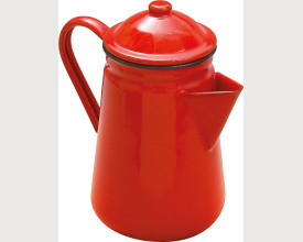 Falcon Housewares Large Red Enamel Coffee Pot feature image