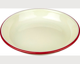 Falcon Housewares 22cm Red and Cream Enamel Rice Pasta Plate £2.20 feature image