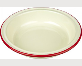 Falcon Housewares 18cm Red and Cream Round Enamel Pie Dish feature image