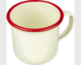 Falcon Housewares 8cm Red and Cream Enamel Mug £1.95 feature image