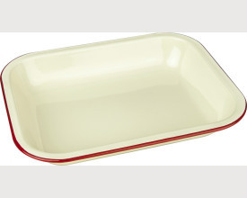Falcon Housewares Red and Cream Bake Pan feature image