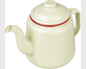 Falcon Housewares Large Red and Cream Enamel Tea Pot feature image