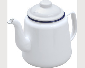 Falcon Housewares Small Blue and White Enamel Tea Pot feature image