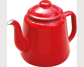 Falcon Housewares Large Red Enamel Tea Pot feature image