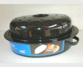 Falcon Housewares 30cm Black Oval Enamel Roaster feature image