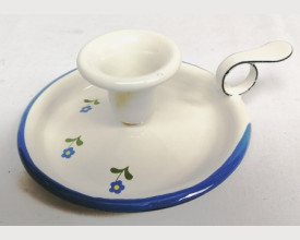 Munder Blue and Cream Floral Enamel Candle Holder £4.88 feature image