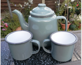 Homecook Enamelware Grey Tea for Two Boxed Tea Set feature image
