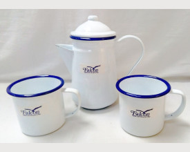 Falcon Housewares Blue and White Coffee for Two Boxed feature image