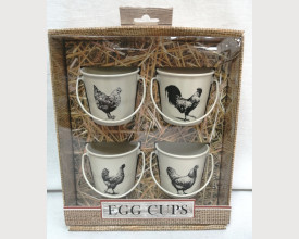 Chickens Tinware Egg Cup Boxed Set feature image