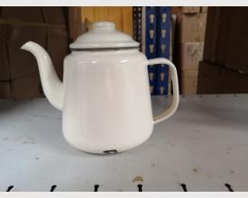 Damaged Large Grey and Cream Enamel Tea Pot 1.5 Litre size £4.00 feature image