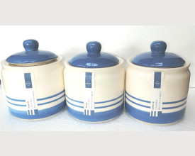 Cornish Blue Tea,Coffee and Sugar Canister Set feature image
