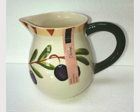 Hand Painted Olive Patterned Ceramic Jug feature image