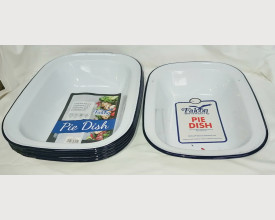 6 Damaged Blue and White Oblong Pie Dishes feature image