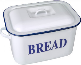 Falcon Housewares Small Blue and White Bread Bin feature image