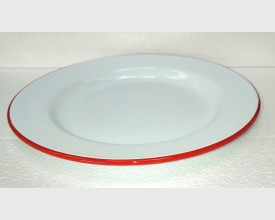 Homecook Enamelware Red and White Enamel Plates feature image