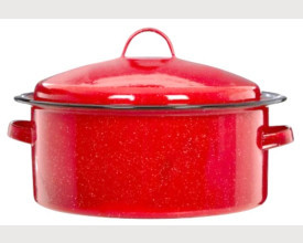 Premier Red 28cm Round Enamel  Roaster £14.95 feature image