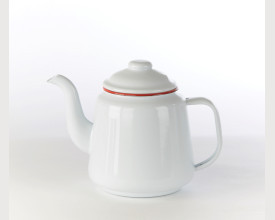 Homecook Large Red and White Enamel Tea Pot feature image