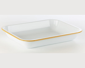Falcon Housewares 28cm Mustard Yellow and White Bake Pan feature image